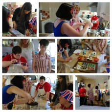 Olympic cupcake workshop collage